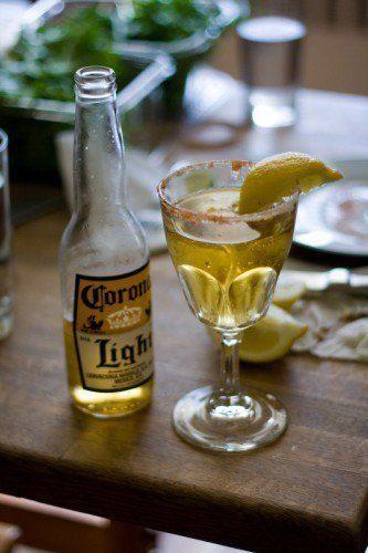 corona with lemon paprika and sugar