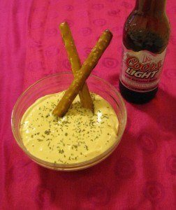 beer dip made with coors light