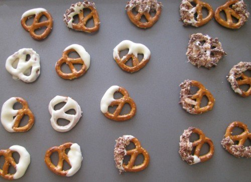 white chocolate pretzels