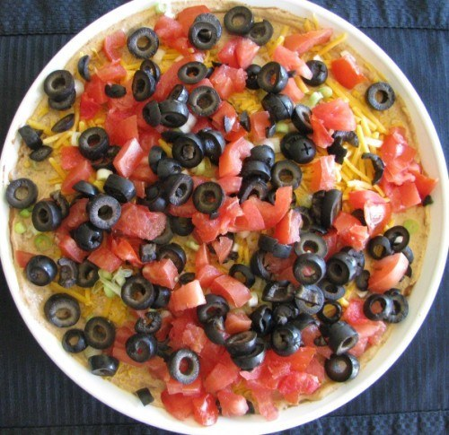 refried bean layer dip
