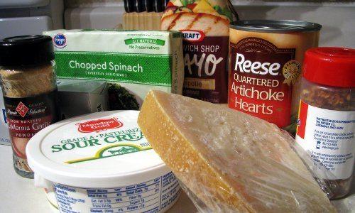 Baked Spinach Artichoke Dip Ingredients