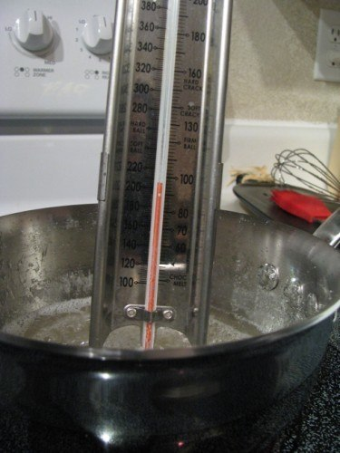 temperature for caramel sauce