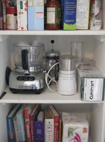 food processor fits in pantry storage
