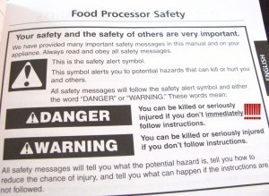 safety instructions for food processor
