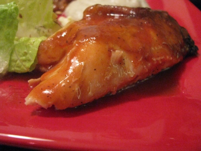 roasted chicken with barbecue sauce