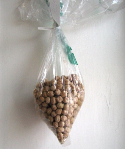 bag of dried garbanzo beans