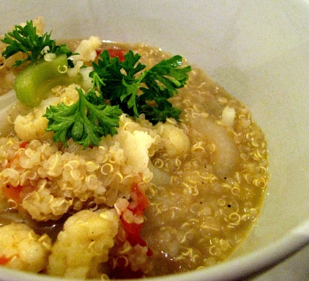 quinoa and vegetable stock