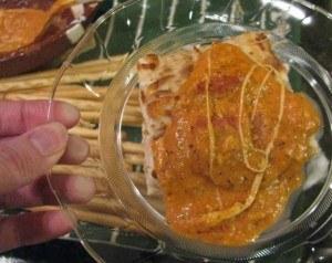 bread sticks and pizza dip