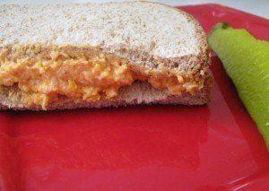 pimento cheese on bread