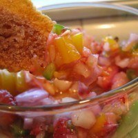 Strawberry and Yellow Pepper Fruit Salsa