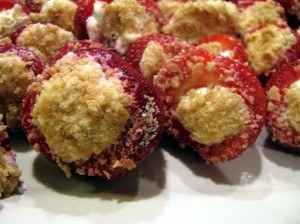 cheesecake stuffed strawbberies