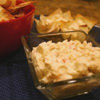 Crab Rangoon Dip with Wonton Dippers