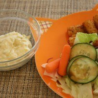 Making Tartar Sauce and Cooking for a Toddler